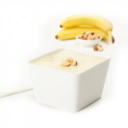 Postre Yogur Banana Avellanas