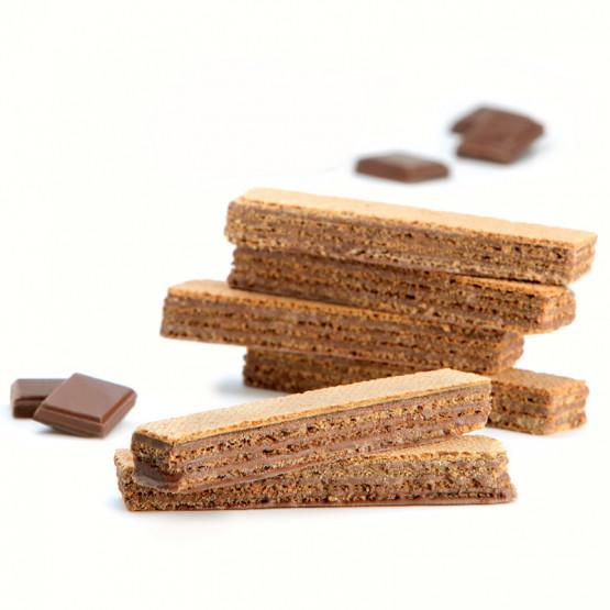 Barquillos de chocolate